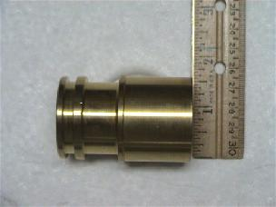 Adapter Brass 1 1/4 or 1 1/2 inch Fleck Connector - 41243-01
