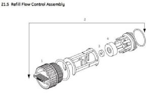 Magnum Refill Flow Control Assembly 1040687