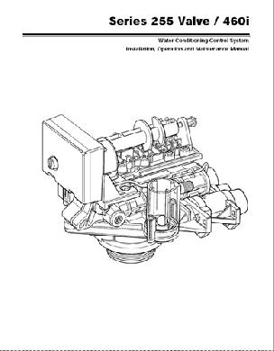 Manual for Autotrol 255 Softener 460i timer