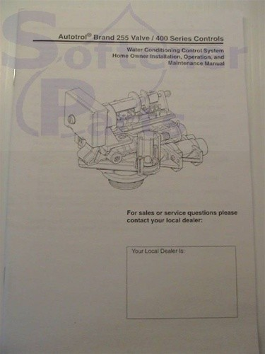 Manual for Autotrol 255 Softener with 440i Timer